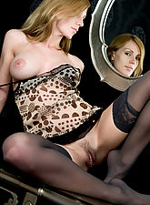 Vanity and seduction by the mirror, filled with overwhelmingly erotic desires
