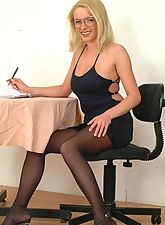 secretaries, Hot Boss Kirsten Spreading On The Office Desk